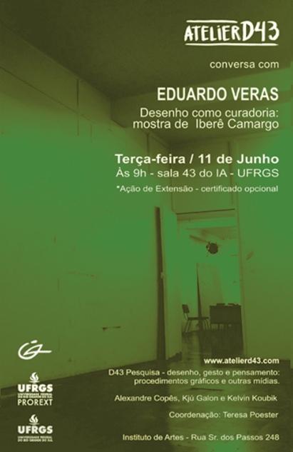 """Eduardo Veras conversa sobre Desenho como curadoria na exposição """" A linha incontornável, desenhos de Iberê Camargo""""."""